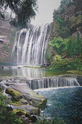 Chinese hand embroidery art landscape painting | Flickr - Photo Sharing!