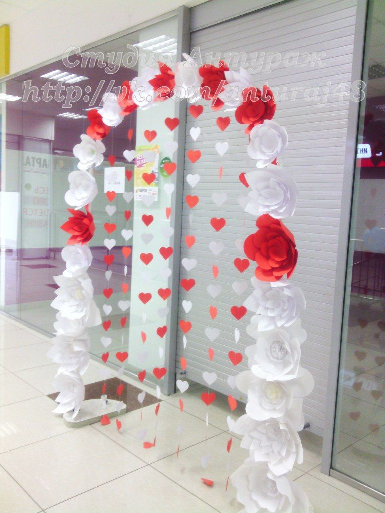 Paper flowers backdrop  Valentineus Day School Dance  Pinterest