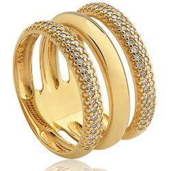 566795c2a8756 Anel Ouro Amarelo e Diamantes Lumiére Solar VIVARA   BRA JEWELRY ...