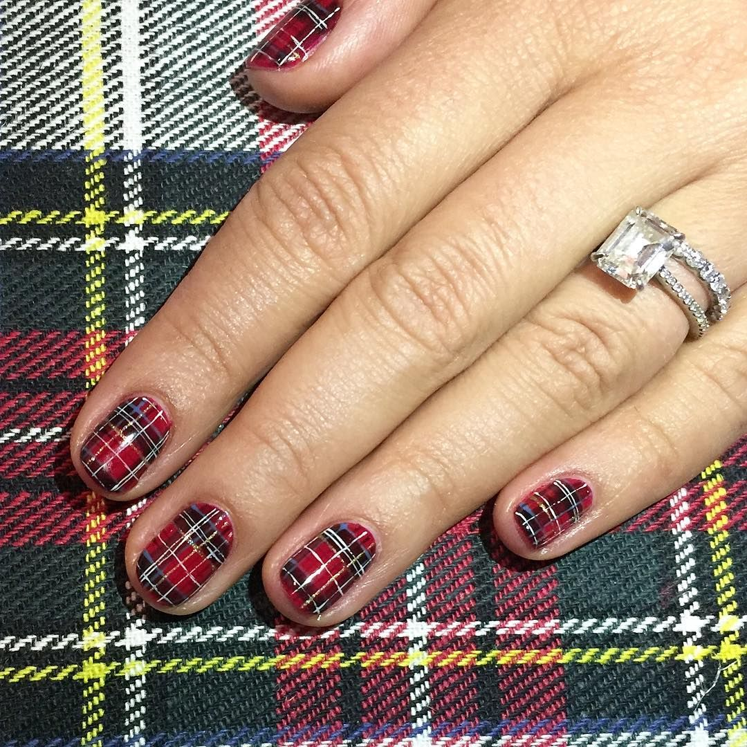 Fall Nail Trends These Pros Are Calling Out For  Plaid