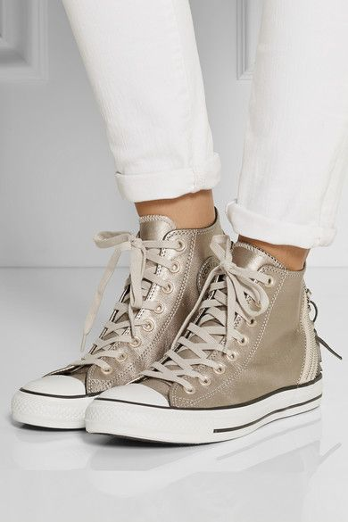 deed48cac378 Converse Chuck Taylor All Star Tri Zip leather high-top sneakers ...