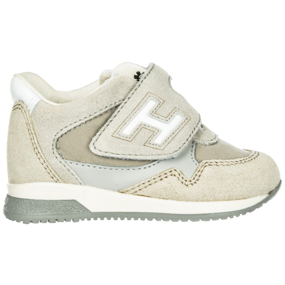 HOGAN BOYS SHOES BABY CHILD SNEAKERS SUEDE LEATHER NEW