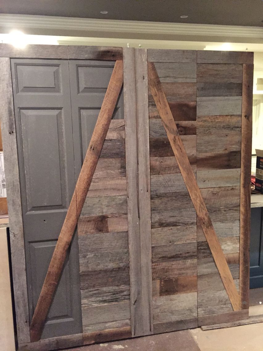 Create A Beautiful Reclaimed Wood Barn Door From An Ugly Bifold Door