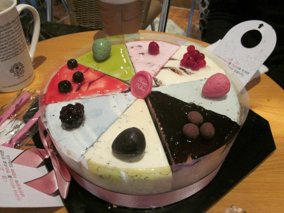8 flavored Baskin Robbins ice cream cake Contains mint choc