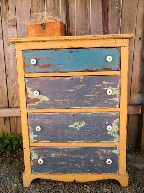 """Love this piece by Emily's Up-cycled Furniture. I love their mantra, """"The more neglected the better..."""""""