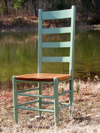 Charmant Cottage Tall Ladder Back Chair