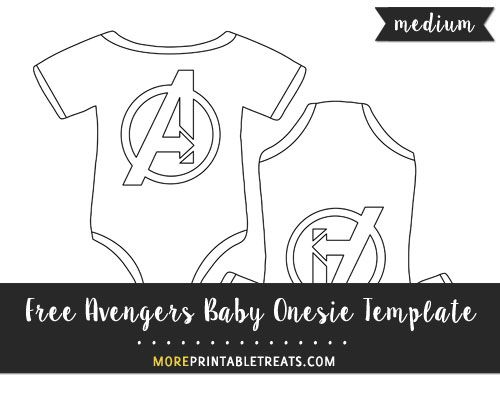 Free Avengers Baby Onesie Template - Medium Size | Shapes And