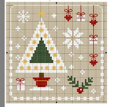 Pin de Blanca Siria en navideño   Pinterest   Punto de cruz, Puntos ...
