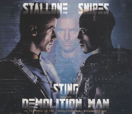 "For Sale - Sting Demolition Man UK  CD single (CD5 / 5"") - See this and 250,000 other rare & vintage vinyl records, singles, LPs & CDs at http://eil.com"