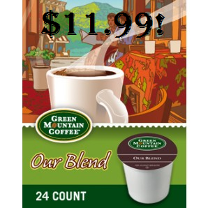 Green Mountain K-cup Coffee Deal 24 ct Only $11.99! - http://couponingforfreebies.com/green-mountain-k-cup-coffee-deal-24-ct-11-99/