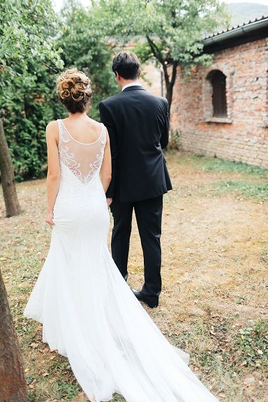 Summertime Weddings Are So And Soft A Beautiful Wedding Dress Back That Flows Just