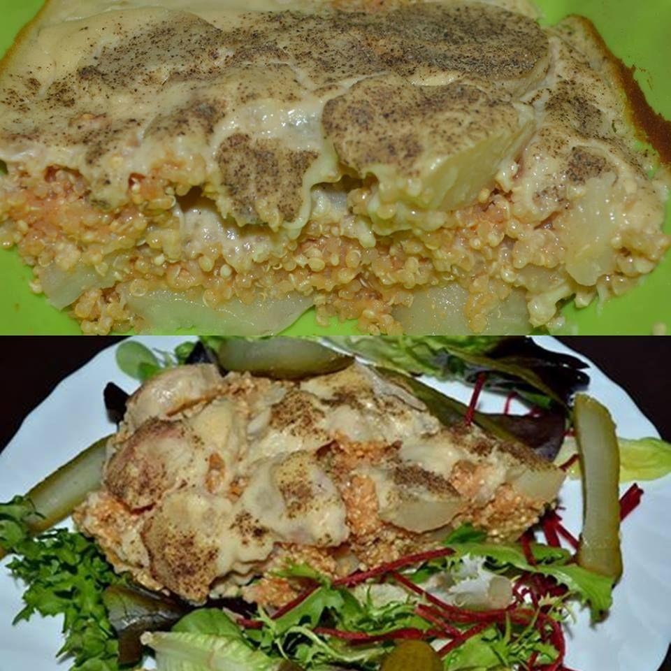 Gluténmentes vegán HCLF rakott krumpli (szójamentes, zsírszegény)