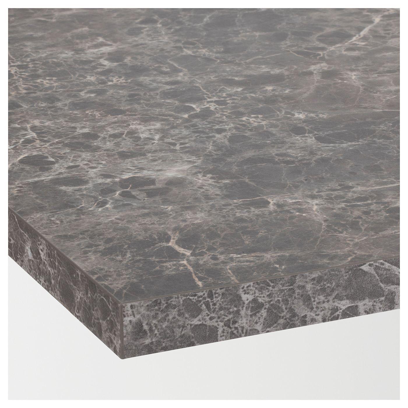 Ekbacken Countertop Dark Gray Marble Effect Laminate Marble Effect Laminate 74x1 1 8 188x2 8 Cm Arbeitsplatte Laminat Moderner Stil