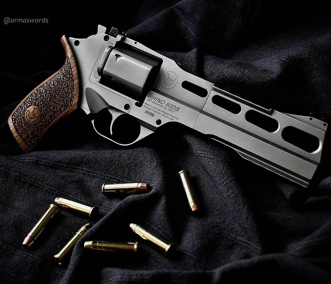 Manufacturer: Chiappa Firearms  Mod. Rhino 60DS  Type - Tipo: Revolver  Caliber - Calibre: 357 Magnum  Capacity - Capacidade: 6 Rounds  Barrel length - Comp.Cano: 6 Weight - Peso: 935 g #guns#rhino#arms#357#firearms#gunslove#selfdefense#photooftheday#barrel#instagood#photogun#firearmlove#guns#firearms#gunpics#followme#firempotography#gunsdaly#selfdefense#gunporn#progun#357magnum#armaswords#handgun