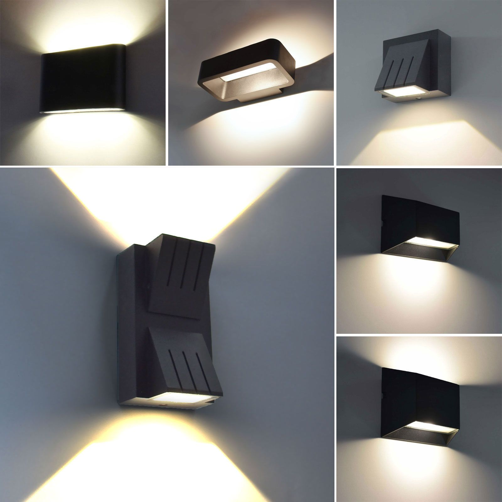 Moderne Led Aussenleuchte Wandleuchte Aussenlampe Up Down Lampe Leuchte Schwarz Ebay Aussenlampe Beleuchtung Decke Wandleuchte