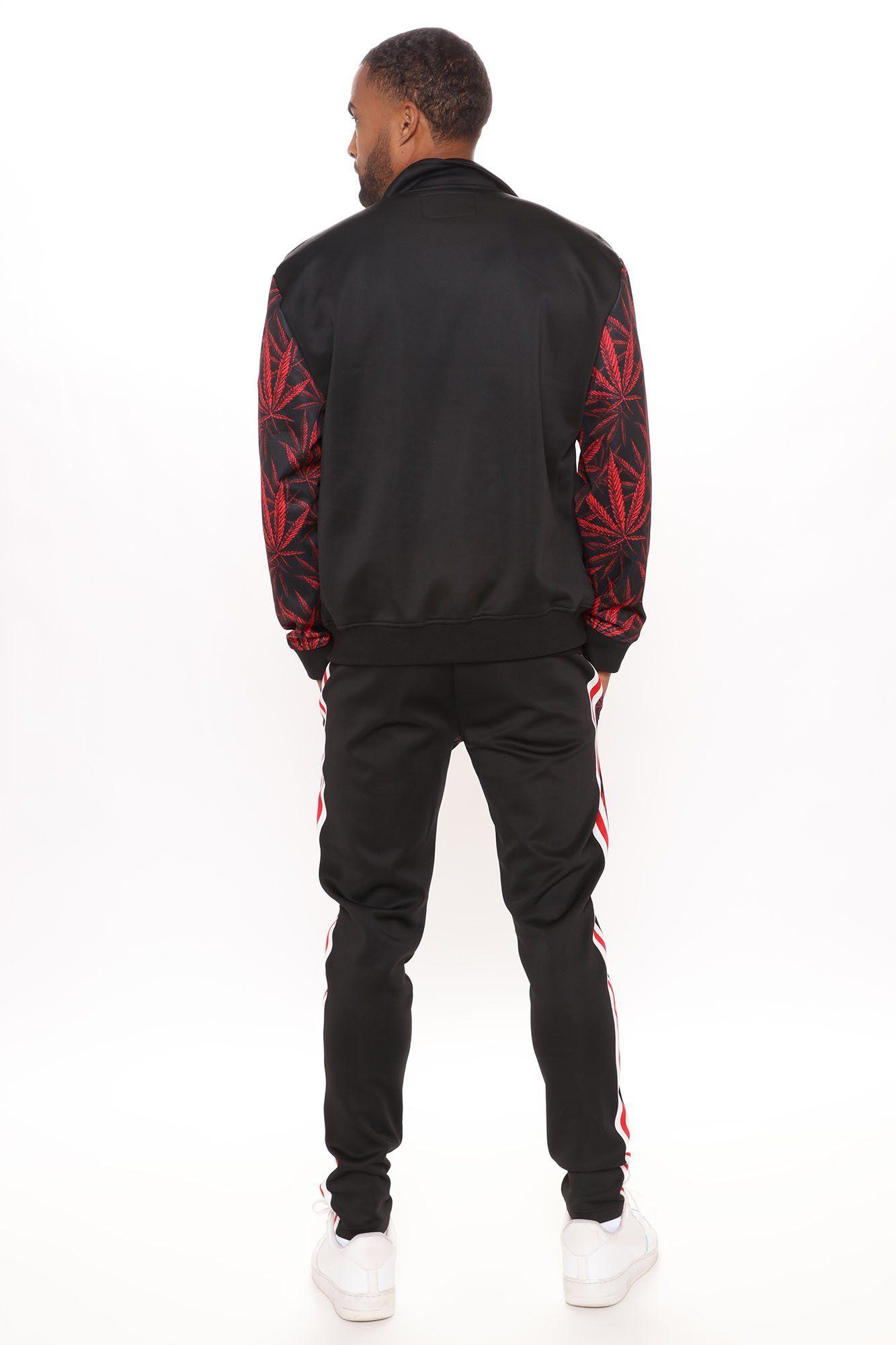 Mens Sunset Paradise Track Pant in Black Print size 2XL by Fashion Nova