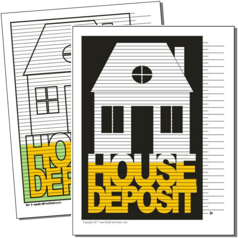House Deposit House Down Payment Deposit Savings Chart
