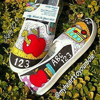 8574f53bf65353 Teacher TOMS - teacher shoes - teacher gifts - teacher appreciation ...