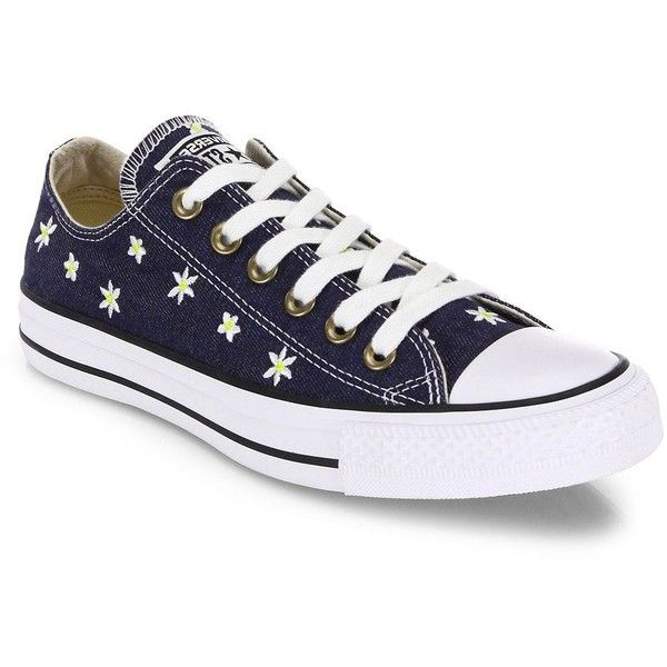97fa27f1377f79 Converse Chuck Taylor All-Star Denim Daisy Low-Top Sneakers ( 70) ❤ liked  on Polyvore featuring shoes