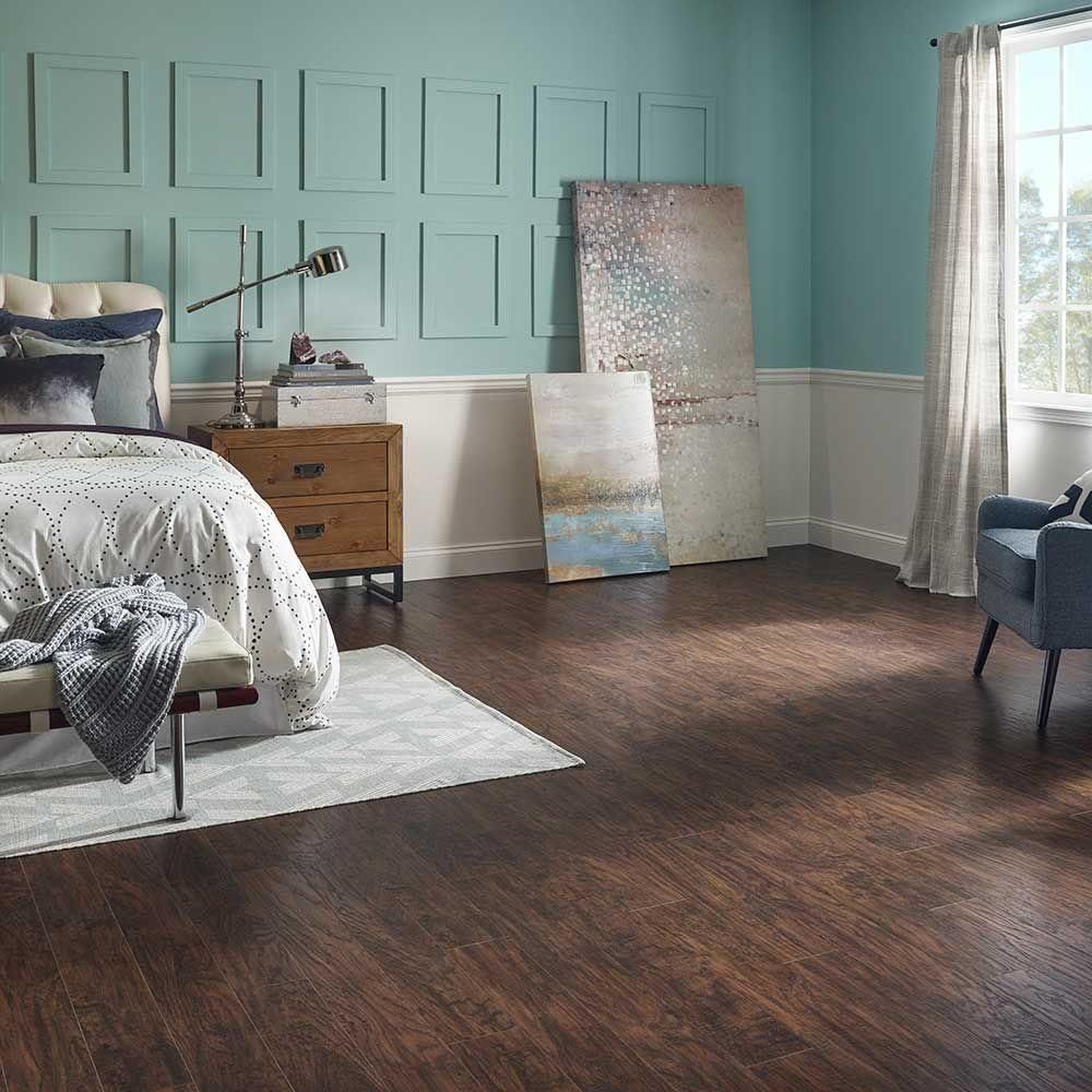 Pergo XP Coffee Handscraped Hickory 10 Mm Thick X 5 1/4 In. Wide X 47 1/4  In. Length Laminate Flooring (13.74 Sq. Ft. / Case)
