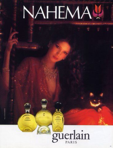 GUERLAIN- Nahema. Advert. Launched in 1979.