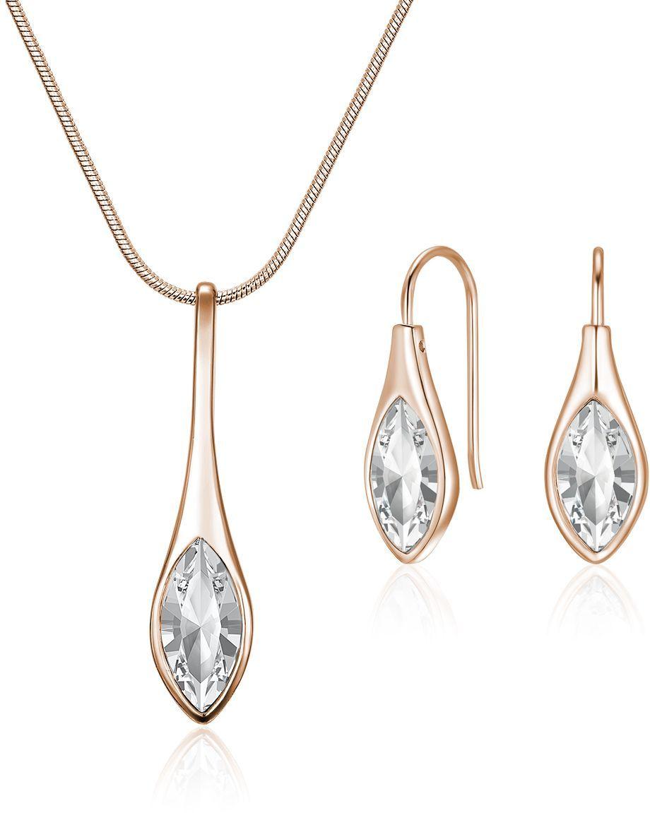 3ddb9199ab8ac Mestige Women's Rose Gold Amelie with Swarovski Crystals Jewelry Set ...