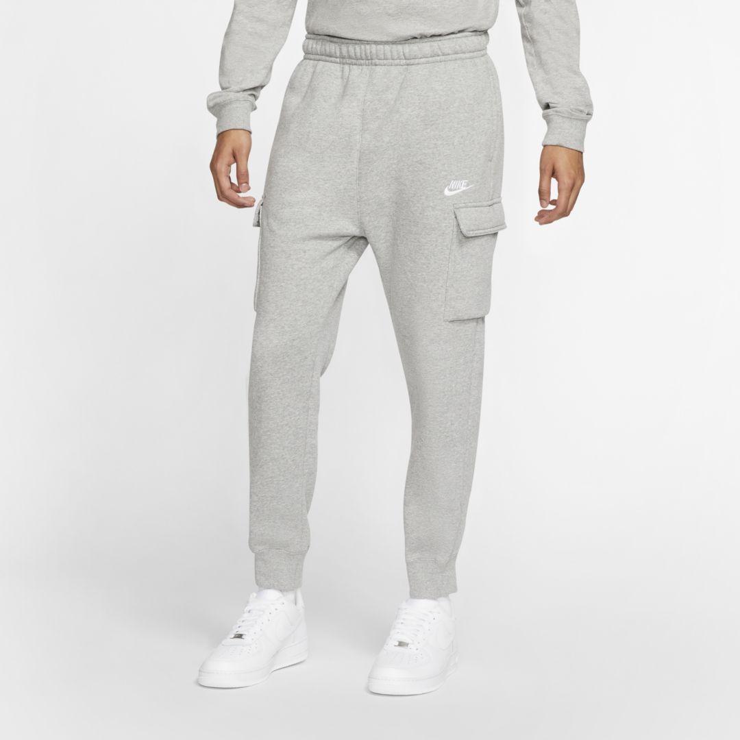 Nike Mens Club Fleece Sweatpants Dark Heather Grey Regular Fit