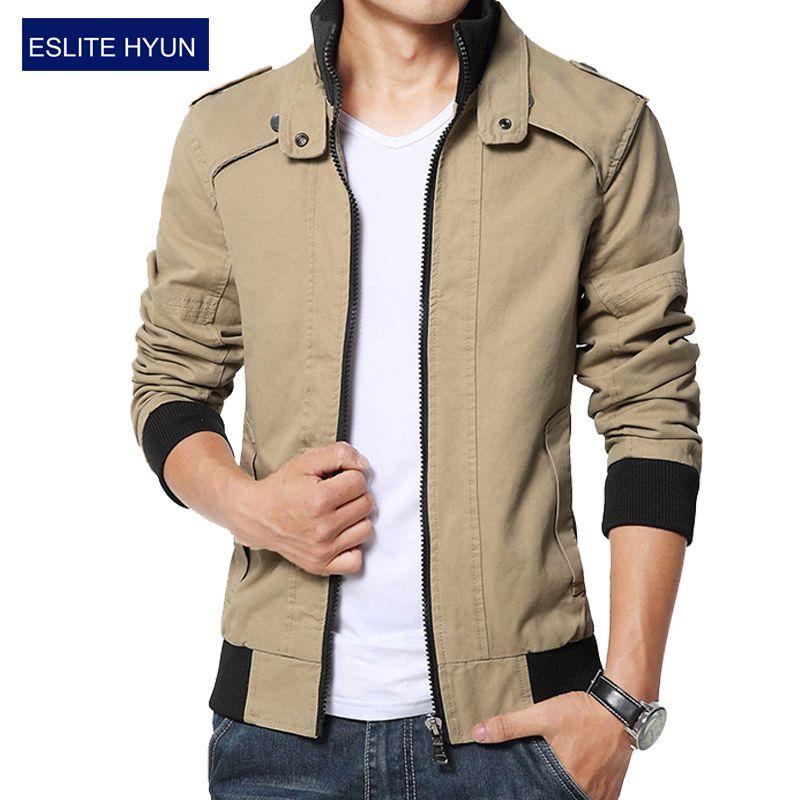 b2c92d8eb69a7 Cheap 2017 nueva moda otoño chaqueta informal masculina de otoño solid para hombre  chaquetas y abrigos hombres chaqueta más el tamaño 3XL 4XL 5XL