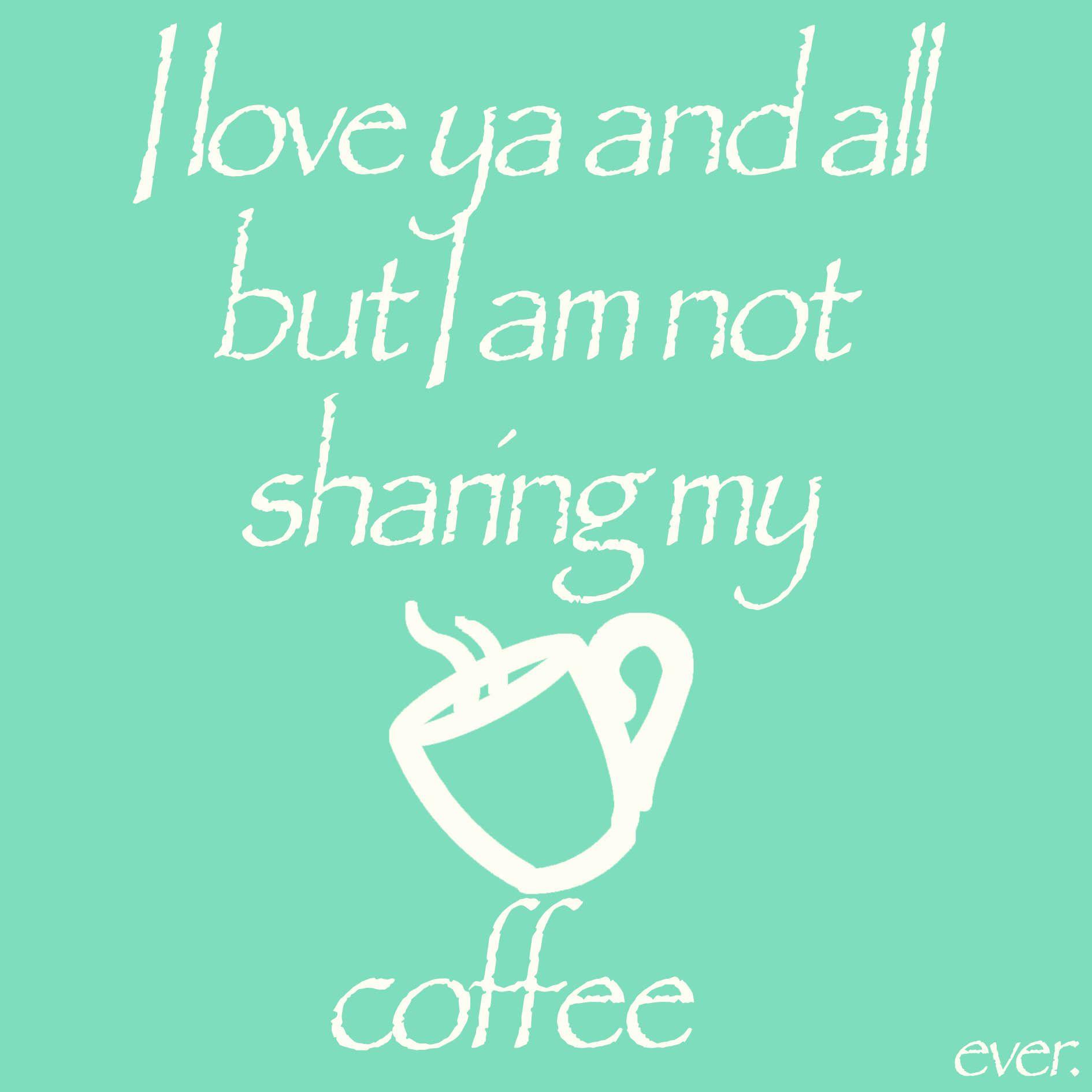 Sharing? #coffee