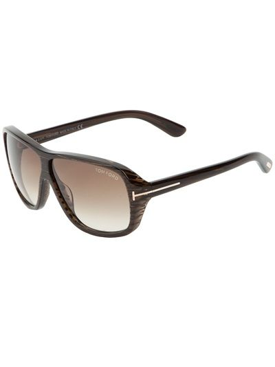 Brown acetate sunglasses from Tom Ford