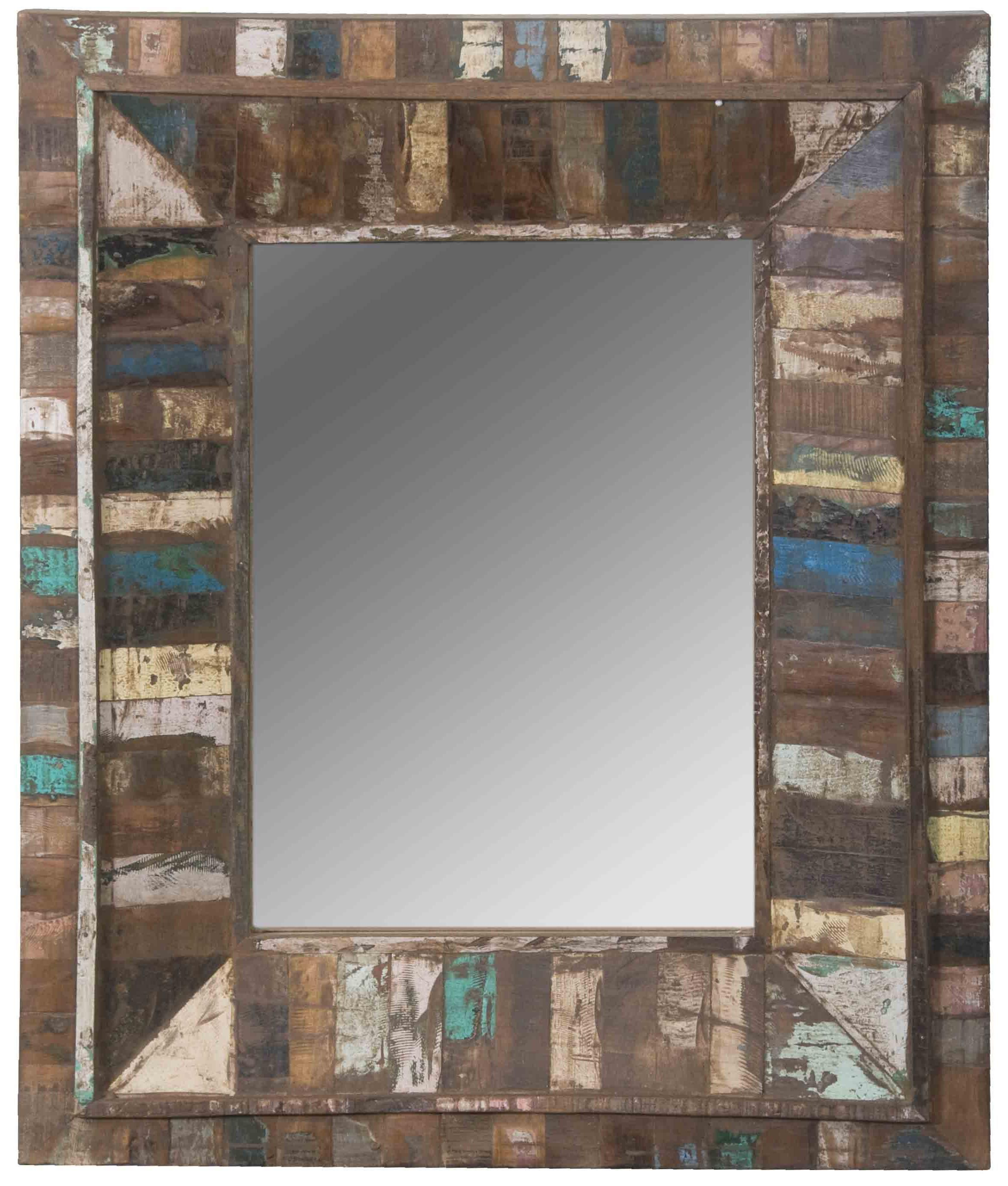 Bathroom Mirrors Richmond Va jadu accents rectangular wall mirror with large multicolor