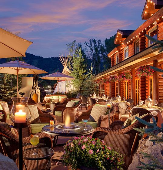 Jackson Wy Rustic Inn Creekside Resort Spa Hole Hotel Idea For
