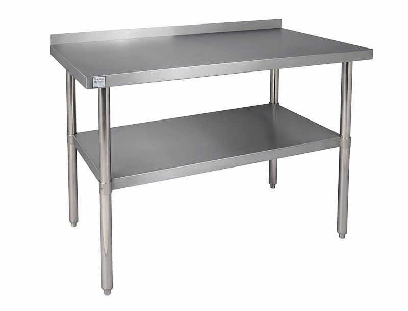 Backsplash Stainless Steel Work Table For Unfitted Kitchen Kitchen Work Tables Kitchen Prep Table Stainless Steel Furniture