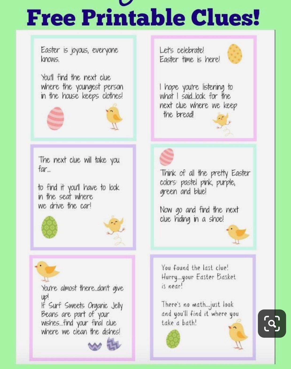 Pin by Kellie Ziemer on Easter in 2019 Easter scavenger