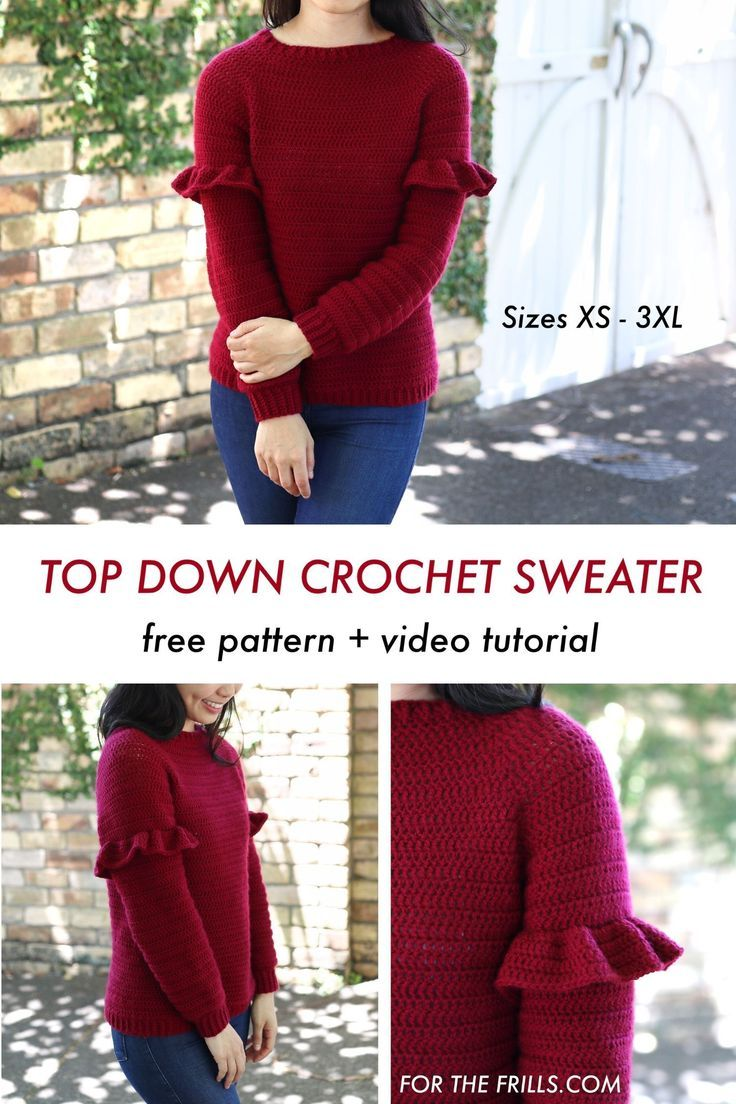 Photo of Top Down Christmas Crochet Sweater – free pattern + video tutorial