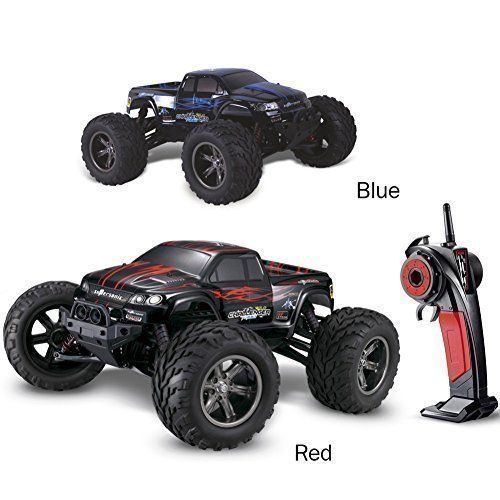 Xinye Foxx S911 Full Proportional 2WD Brush 45km/h High Speed Monster Mad Max Truck VS Traxxas WLTOYS A969/A979 with 2.4ghz Radio Remote Control Charger Included 1/12 Scale with Waterproof Electronics Blue