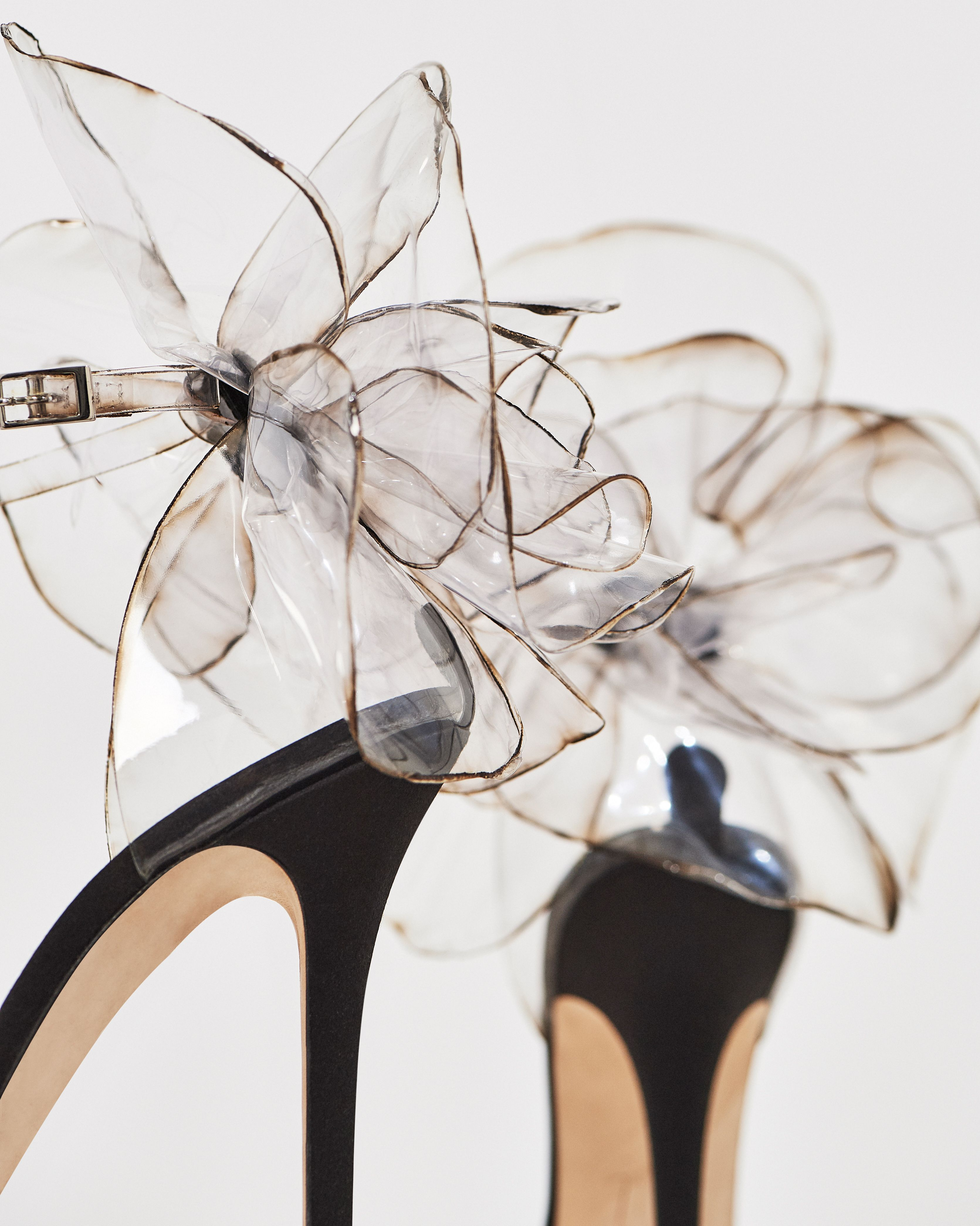 PEONY—a transparent, statement making couture stiletto