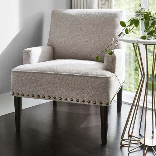 Lily Gray Accent Chair Pier 1 In 2020 Geometric Accent Chair Accent Chairs For Living Room Grey Accent Chair