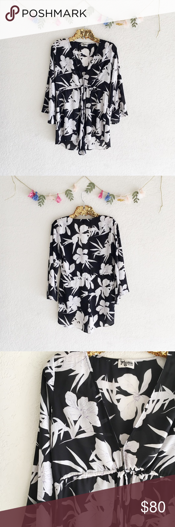 33c7405410b3 Show Me Your Mumu Roxy Romper - Lily Collins This floral Mu has got the  black as ebony and white as snow thing covered for that romantic cool girl  look ...