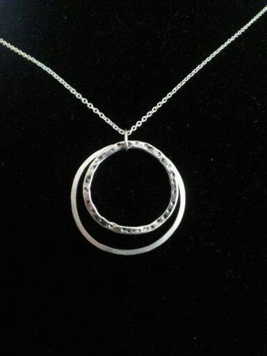 Sterling Silver Hoops Necklace by NikkiMac on Etsy, $25.00