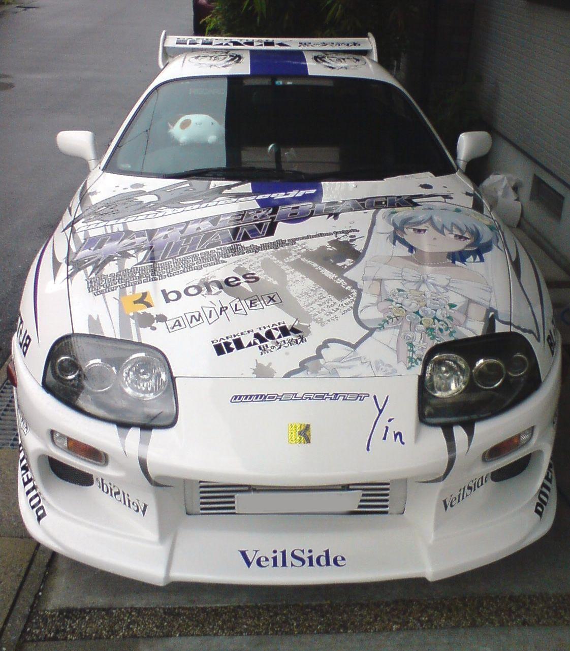 Japanese itasha car wrap japan cars sport cars