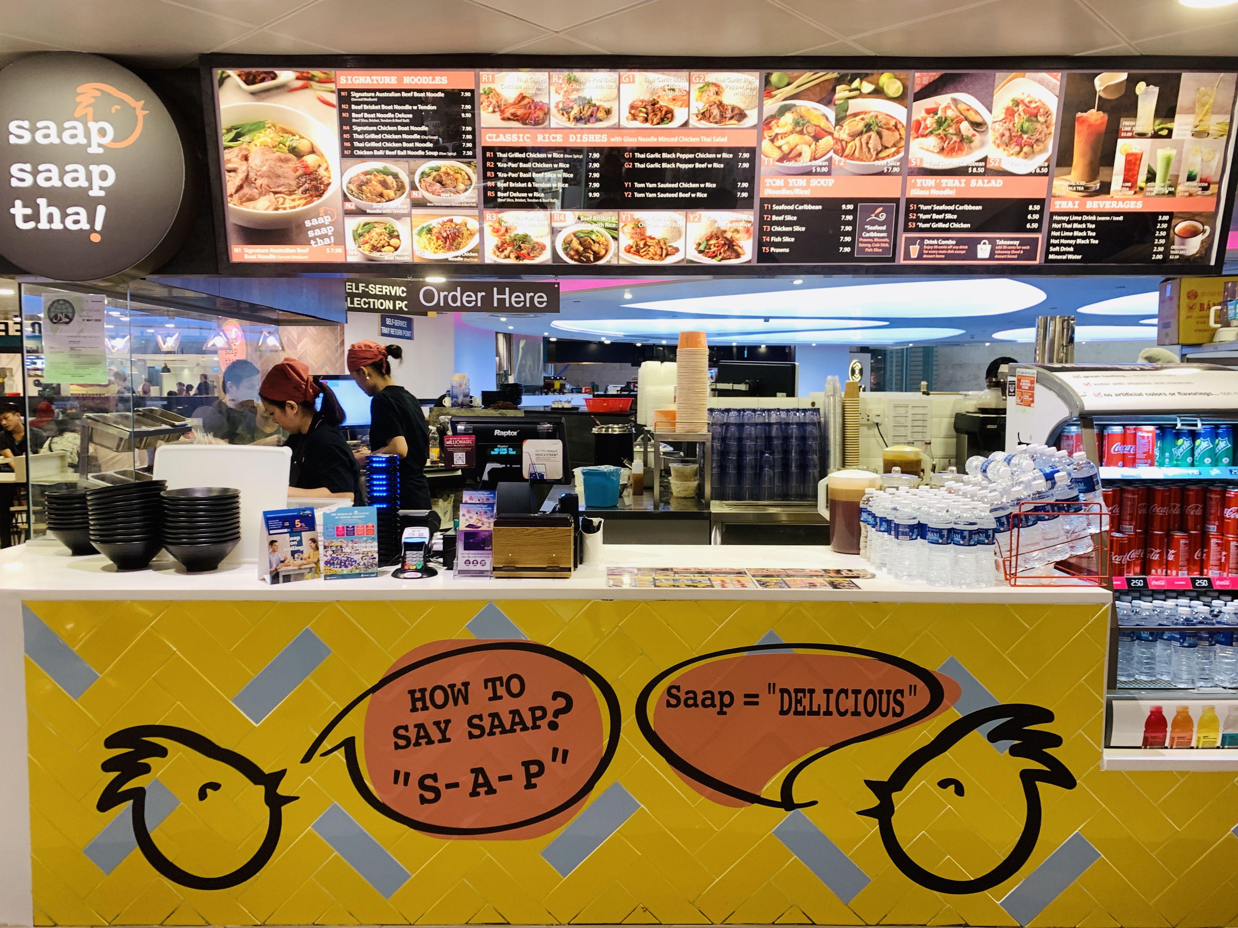Saap Saap Thai Halal Thai In Changi Airport Terminal 3 Halal Airport Terminal 3 Airports Terminal