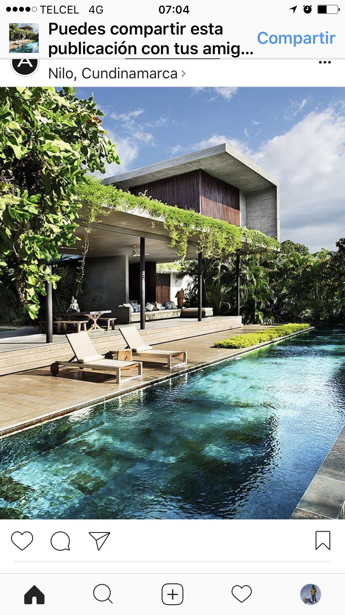 Roof Garden overlooking pool #ecohousebali  Architecture