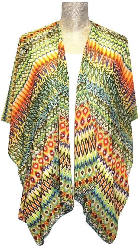 lavello ikat print sheer kimono Case of 12