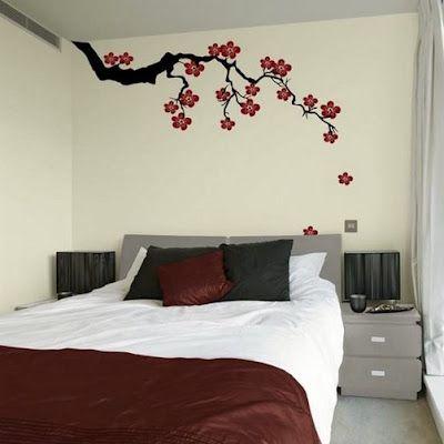 50 Simple Creative Bedroom Wall Designs Kamar Dekor Ide