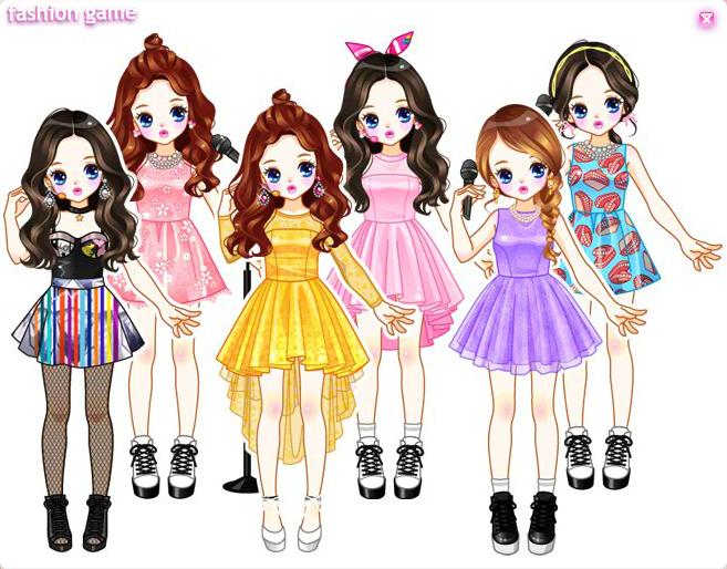 Daum Idols Dressup games Anime style, Up game, Dress up