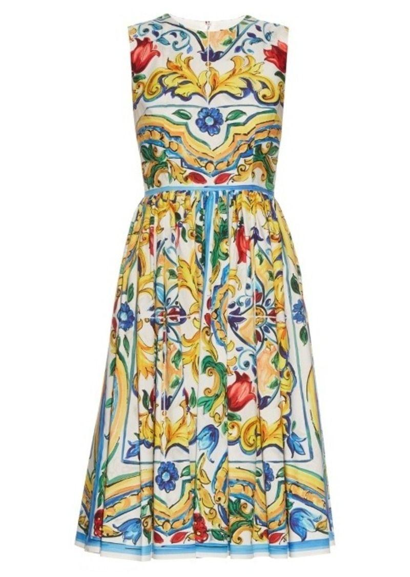 f2c0aa1c4a83 Dolce   Gabbana Majolica-print cotton dress