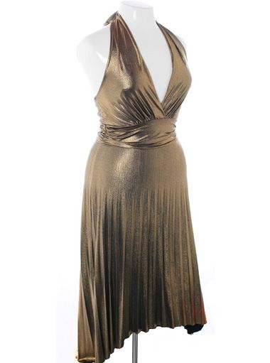 Gold Marilyn Monroe Dress From Plus Size Fix Not Really Something I