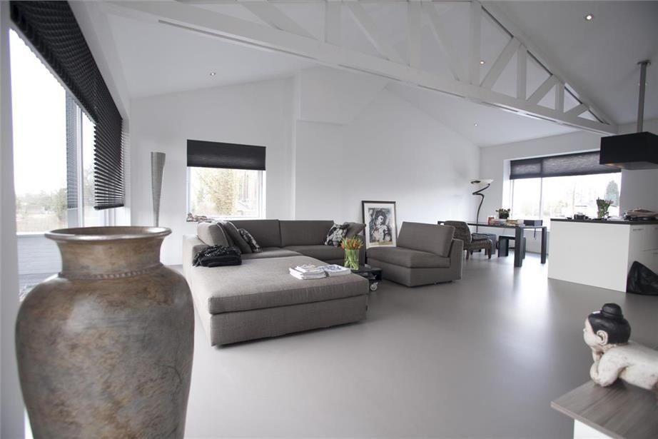 Exclusieve Gietvloer Woonkamer : Gietvloer grijs naadloze gietvloeren huis in 2019 floor colors