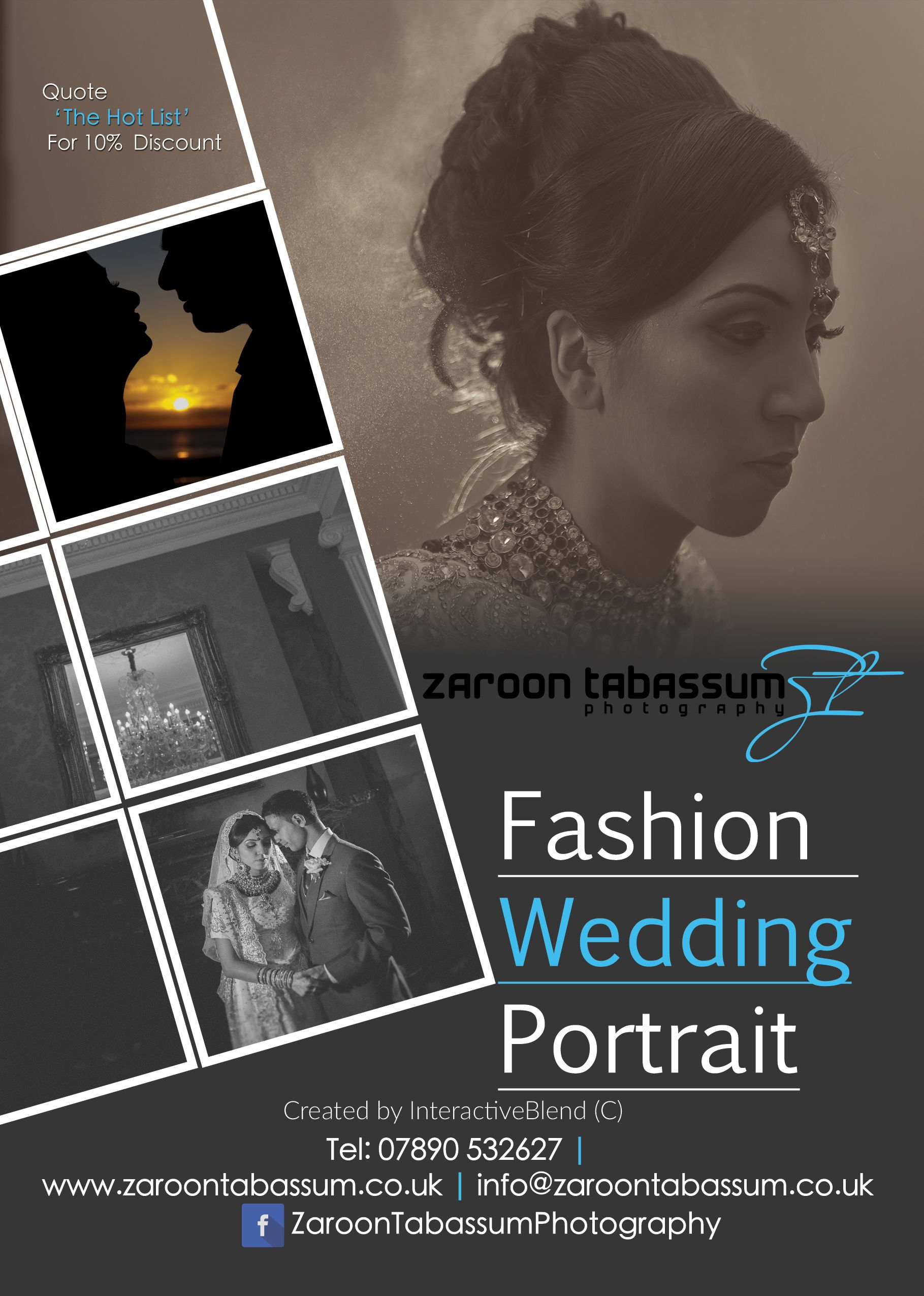 A5 Advertisement for a Fashion Photographer Wedding